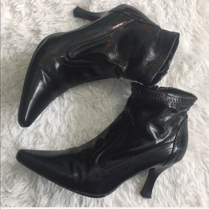 Etienne Aigner Leather Ankle Boots
